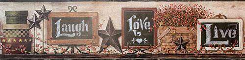 Country Chalkboard Border Wallpaper Borders CWI+