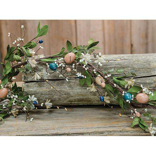 Country Easter Garland, 4ft Spring CWI+