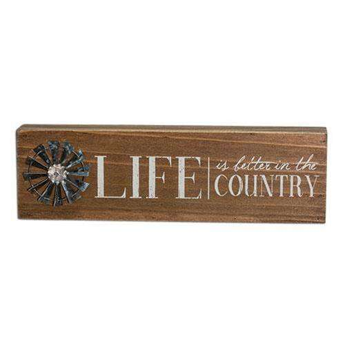 Country Life Windmill Table Sign Pictures & Signs CWI+