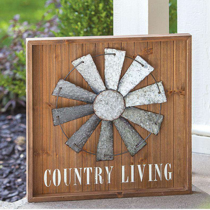 Country Living Windmill Sign Pictures & Signs CWI+