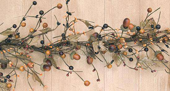 Country Mix Acorn Garland, 4 ft. Fall CWI+