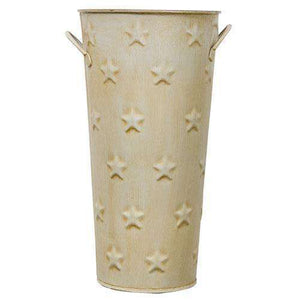 "Cream Flower Bucket, 11"" Buckets & Containers CWI+"