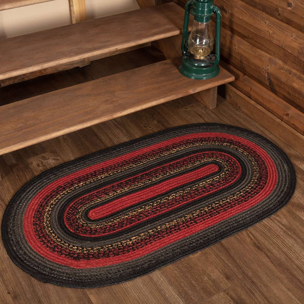 Cumberland Jute Braided Rugs Oval VHC Brands Rugs VHC Brands 4'x6'