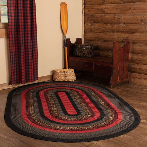 Cumberland Jute Braided Rugs Oval VHC Brands Rugs VHC Brands 5'x8'