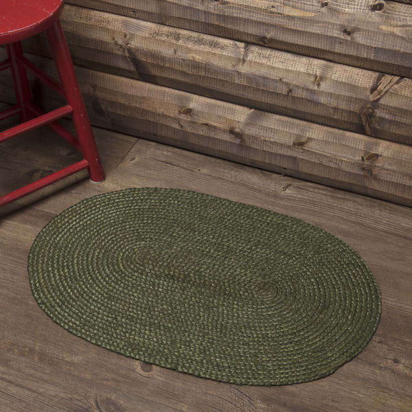 "Cypress Jute Braided Oval Rugs VHC Brands Rugs VHC Brands 20"" x 30"""