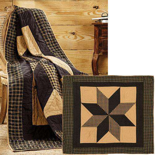 Dakota Star Quilted Throw, 60x50 Quilted Throw CWI+