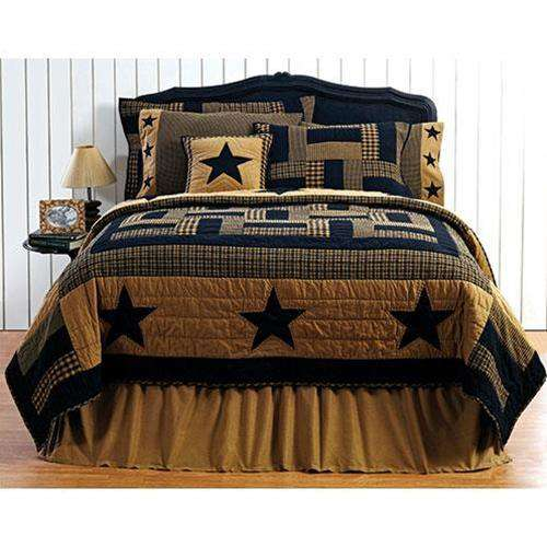 Delaware Star Queen Quilt Bedding CWI Gifts