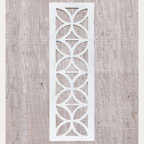 Distressed White Architectural Cutout Wall Decor CWI+