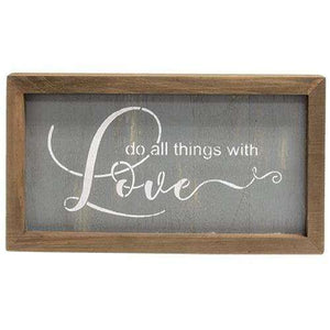 Do All Things With Love Sign Valentine Decor CWI+