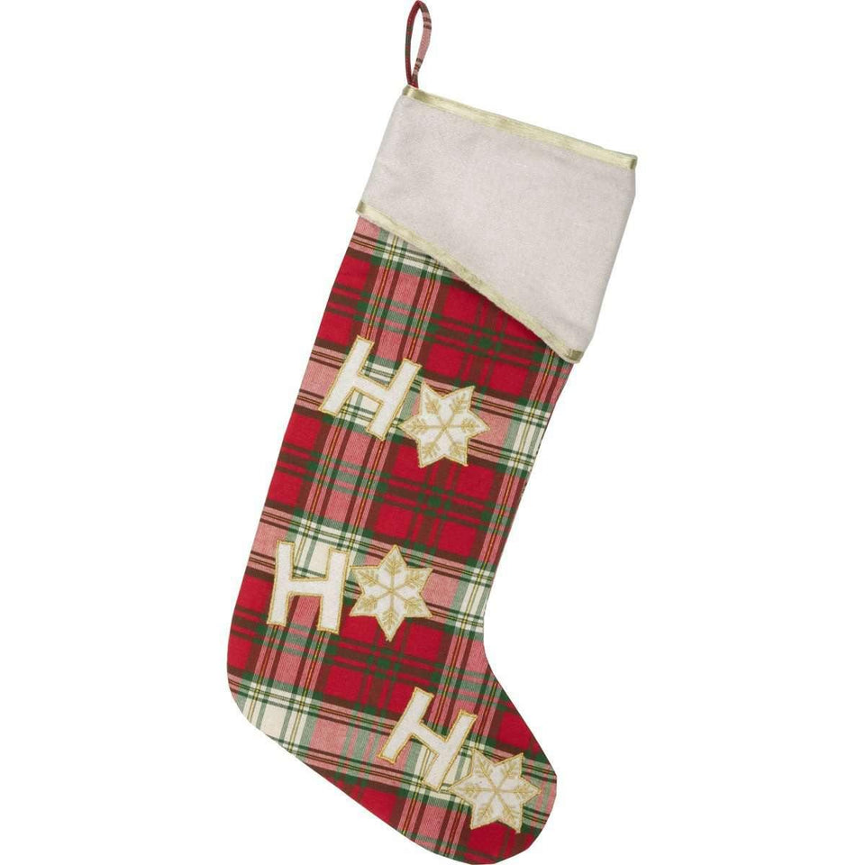 HO HO Holiday Stocking 11x20 VHC Brands