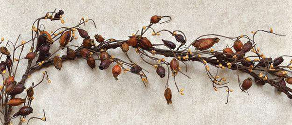 Dried Rose Hip Garland - 4 Ft. Dried Twig & Vine CWI+
