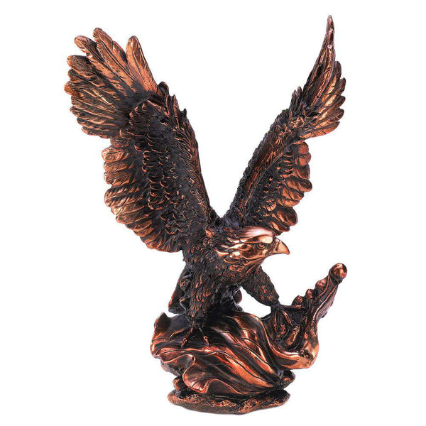 Eagle in Flight Statue Dragon Crest