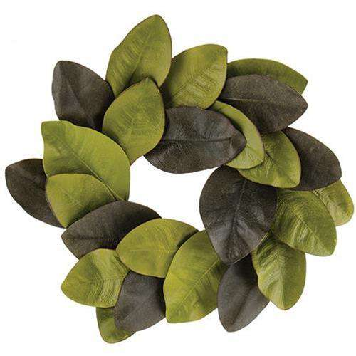 "Elegant Magnolia Leaves Wreath, 12"" Everyday CWI+"