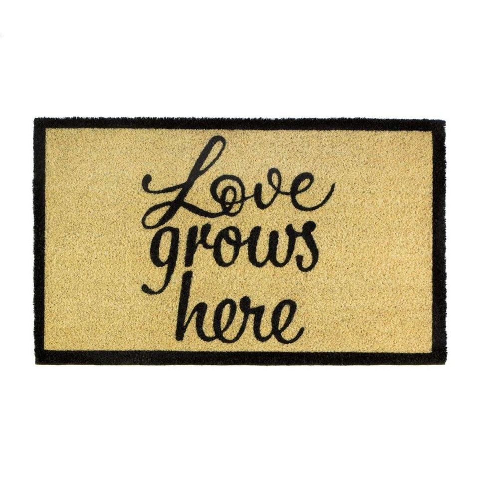 Emilia Love Grows Here Coir Doormat