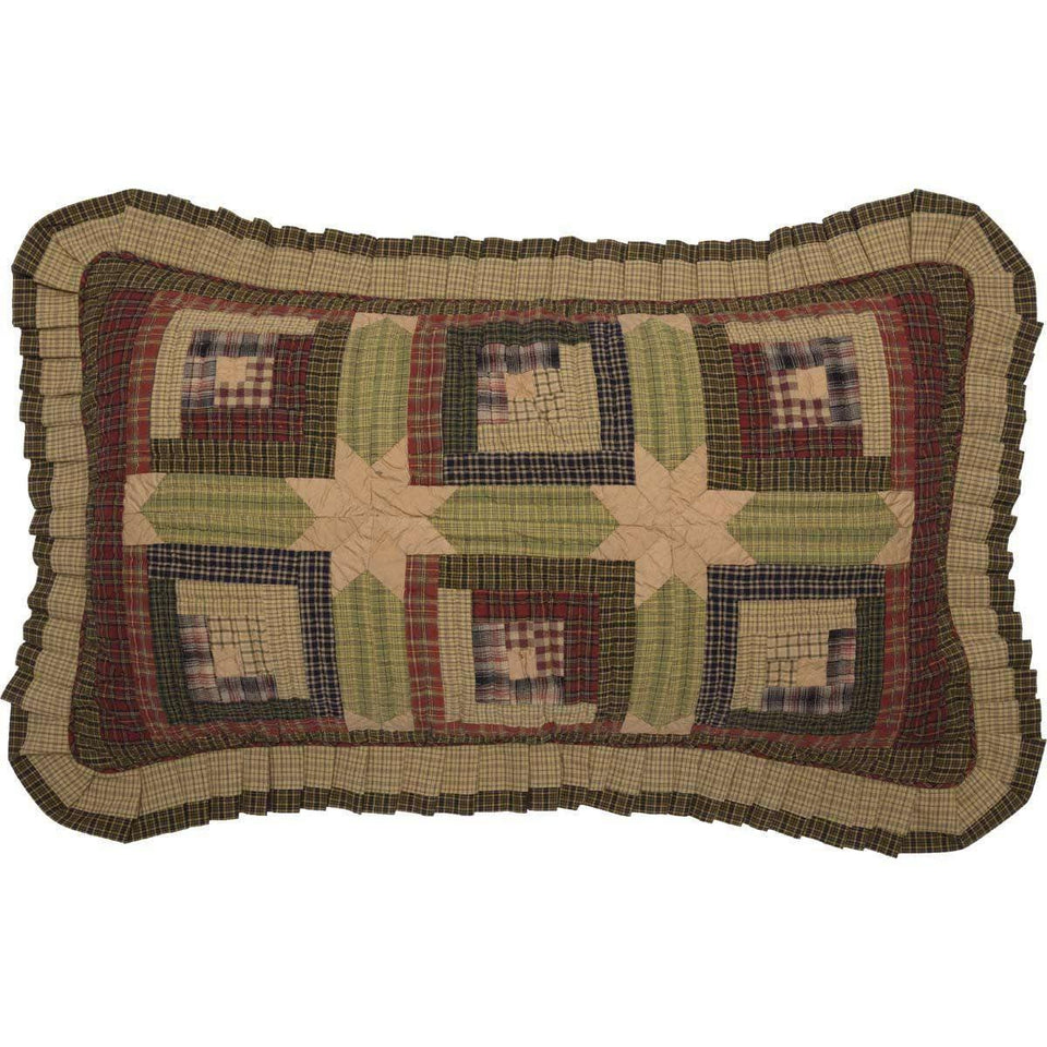 Tea Cabin King Sham 21x37