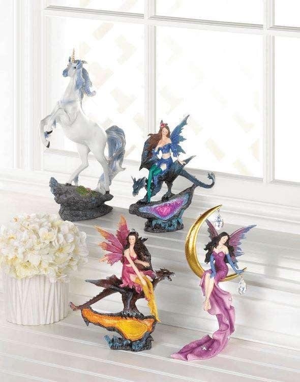 Fairy On Moon Figurine