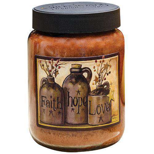 Faith Hope Love Jar Candle, 26oz Jami Boldy CWI+