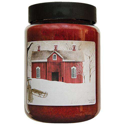 Fallen Snow Jar Candle, 26oz Christmas Candles CWI+
