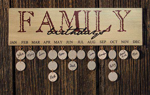 Family Birthday Calendar, Burgundy Calendars CWI+