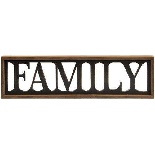 Family Framed Sign Pictures & Signs CWI+