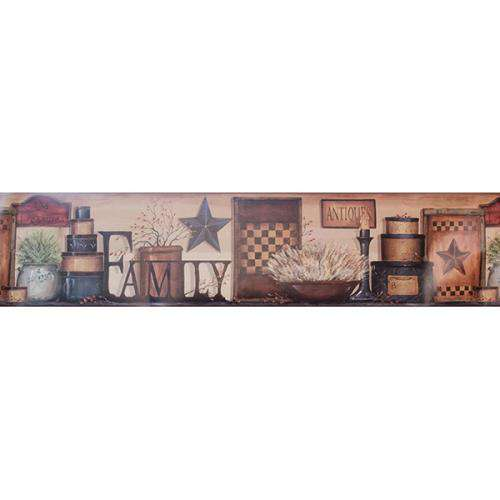 Family Shelf Wall Border Wallpaper Borders CWI+
