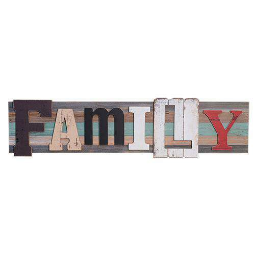 Family Wooden Plaque Wall Decor CWI+