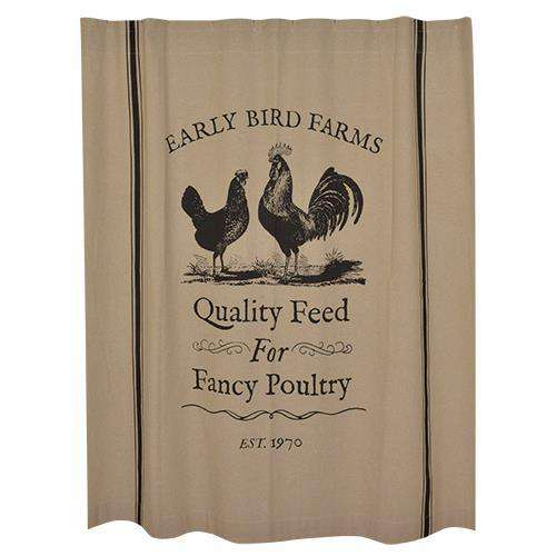 Fancy Poultry Shower Curtain Curtains CWI+