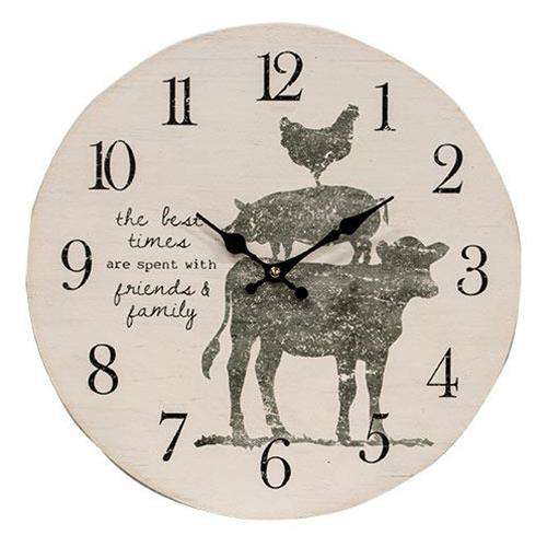 Farm Animal(Cow, Pig, & Rooster) Clock Tick Tock Clock Sale CWI+