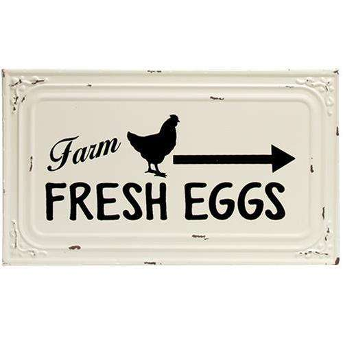 Farm Fresh Eggs Metal Ceiling Tile Sign Metal Signs CWI+
