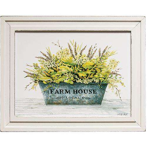 Farm House Bucket Framed Print Country Prints CWI+
