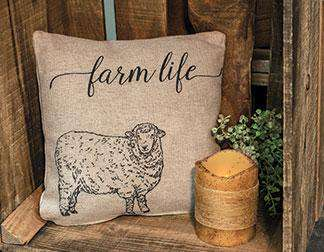 "Farm Life Pillow - 10"" Pillows CWI+"