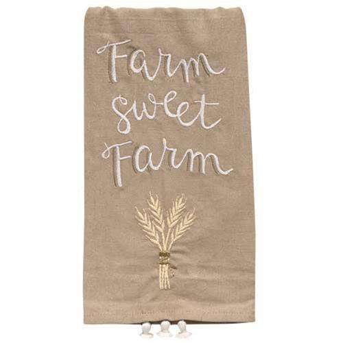 Farm Sweet Farm Dish Towel Farmhouse Decor CWI+