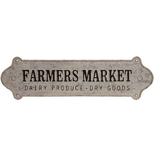 Farmers Market Distressed Metal Wall Sign Metal Signs CWI+