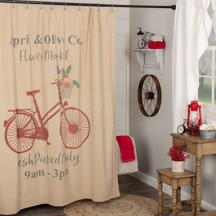 Farmer's Market Flower Market Shower Curtain 72