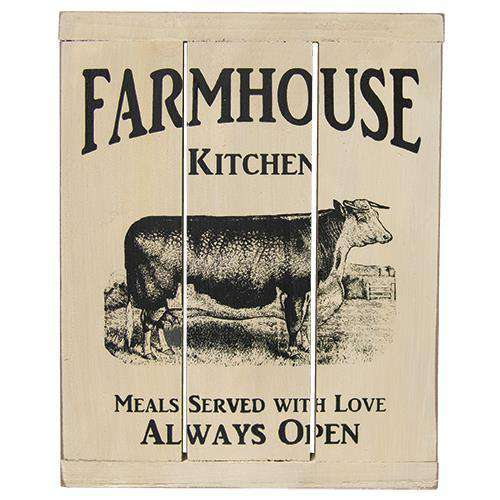 Farmhouse Kitchen Slat Sign HS Plates & Signs CWI+