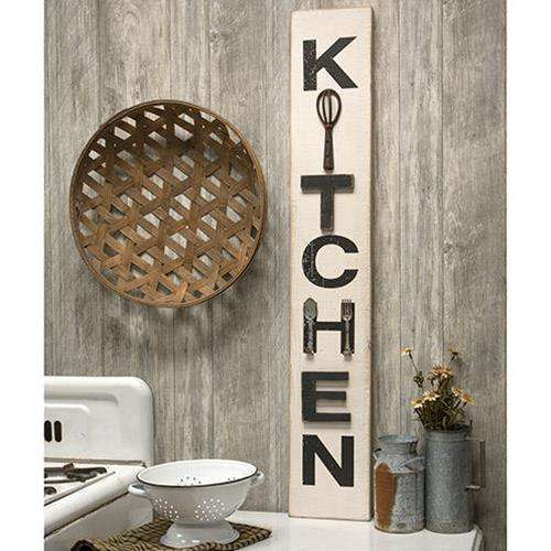 Farmhouse Kitchen Utensils Sign Kitchen Blocks & Signs CWI+