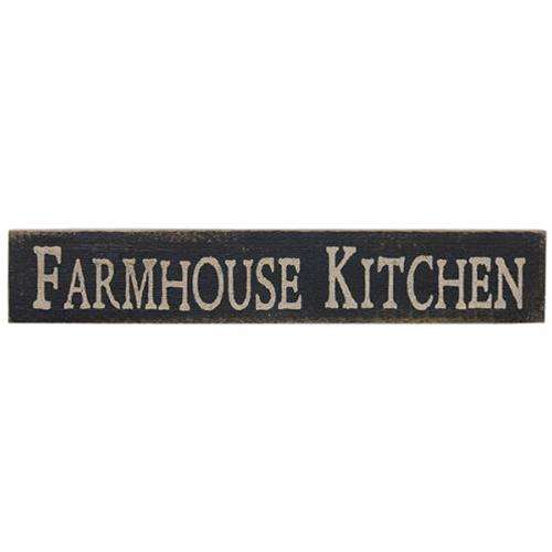 Farmhouse Kitchen Vintage Look Sign, Black Pictures & Signs CWI+