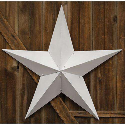 "Farmhouse White Barn Star, 36"" Metal Star Iron Barn Stars CWI+"