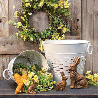 Farmhouse White Olive Bucket, 9 inch Buckets & Cans CWI+