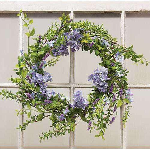 "*Little Lilac Wreath, 24"" - The Fox Decor"