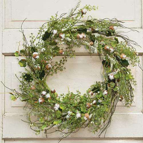 "*Mini Popping Boll Wreath, 22"" - The Fox Decor"
