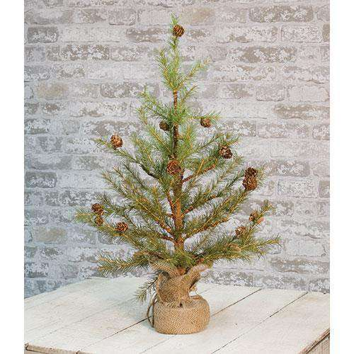 "Feather Pinecone Tree 24"" ^ Artificial Trees & Greenery CWI+"