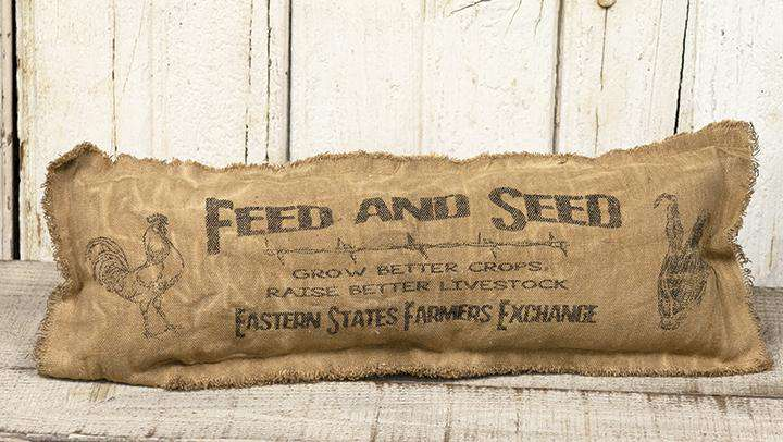 Feed & Seed Pillow, 17x6 Pillows CWI+