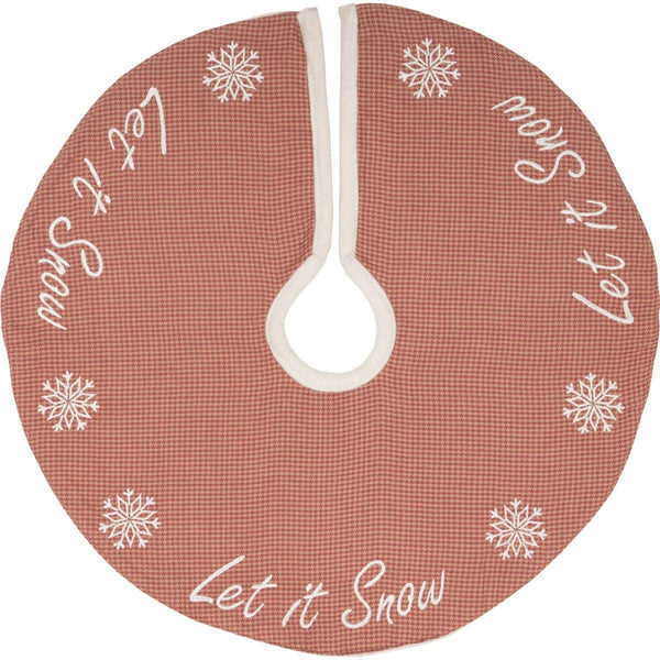 Let It Snow Mini Christmas Tree Skirt 21 VHC Brands