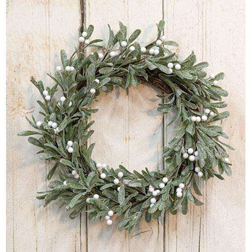 "Sparkle Mistletoe Wreath, 22"" - The Fox Decor"