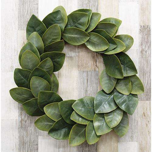 "Williamsburg Magnolia Leaves Wreath, 22"" - The Fox Decor"