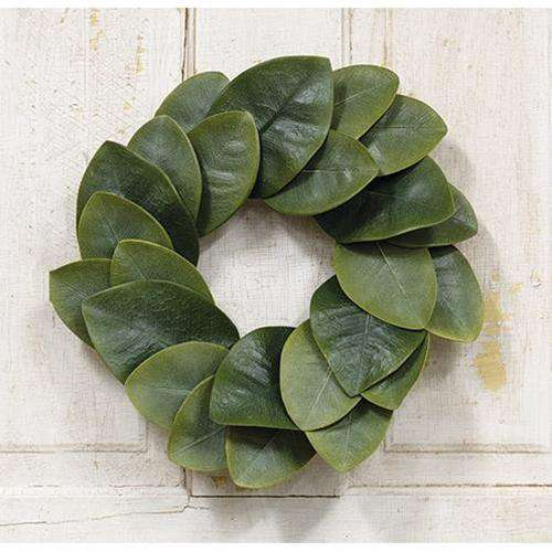 "Williamsburg Magnolia Leaves Wreath, 15"" - The Fox Decor"