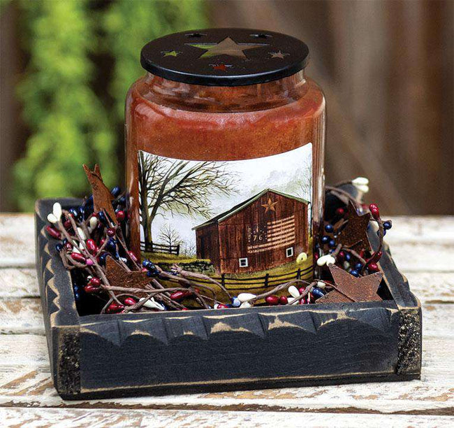 Flag Barn Jar Candle, 26oz Jar Candles CWI+