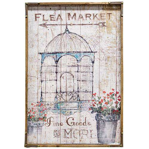 Flea Market Sign Wall Decor CWI+