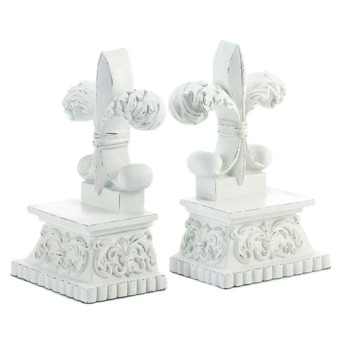 Fleur-De-Lis Bookends Summerfield Terrace